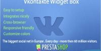 Widget vkontakte prestashop for box