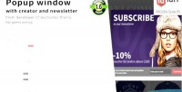 Window popup newsletter with editor