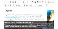 Tools google plugin 4 ckeditor for