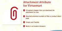 Attribute attachment for virtuemart