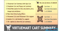 Cart virtuemart summary