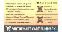 Cart virtuemart summary
