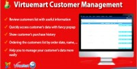 Customer virtuemart management