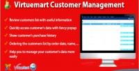 Customer virtuemart management