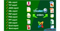 Orders virtuemart export
