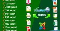 Orders virtuemart export