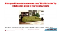 Pinterest rich pin plugin virtuemart for extension