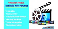 Product virtuemart advanced video thumbnails