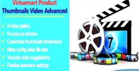 Product virtuemart advanced video thumbnails