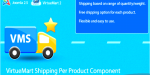 Shipping virtuemart component product per