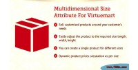 Size multidimensional virtuemart for attribute