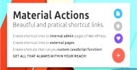 Actions material beautiful shortcuts admin wp