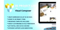 3d project list addon composer visual for