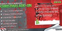 Christmas add on for widget text fancy