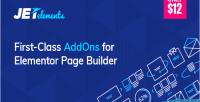 Addon jetelements for elementor builder page