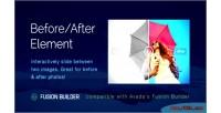 After image comparison element for avada builder fusion v5 after