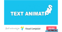 Animations text composer visual for