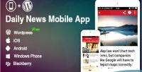 Application for wordpress blog news website app mobile wordpress application