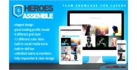 Assemble heroes team layers for showcase