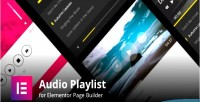Audio mp3 player for playlists builder page elementor