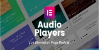 Audio mp3 players builder for page elementor