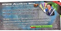Sws author bio add on for shortcodes with styles