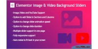 Background elementor slider video image