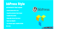 Bbpress style & shortcode composer visual for