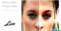 Before after image slider composer live for