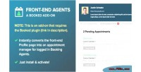 Booked front end agents on add