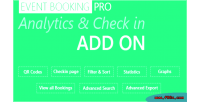 Booking event pro addon checkin analytics