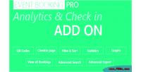 Booking event pro addon checkin analytics
