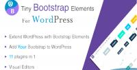 Bootstrap tiny plugin wordpress elements