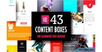 Boxes content addons builder for page elementor