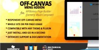 Canvas off menu for addon builder page wpbakery