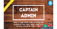 Captain admin wp tools branding label white