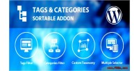 Categories tags sortable addon