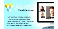 Clean team showcase addon composer visual for
