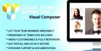 Clean team showcase addon composer visual for
