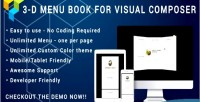 Composer visual 3d menu for flyer cafe & restaurant