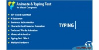 Composer visual animated effect text typing and