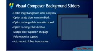 Composer visual background sliders