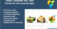 Composer visual icon tabs