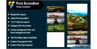 Composer visual post accordion