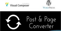 Composer visual post converter page and