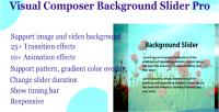 Composer visual pro slider background