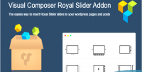 Composer visual royal on add slider