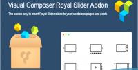 Composer visual royal on add slider