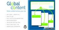Content global wordpress for plugin