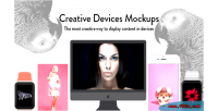 Creative devices mock ups composer visual for